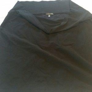 Eileen Fisher black vicrose short skirt